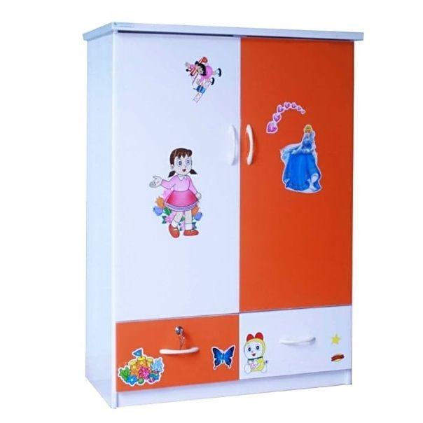 Tủ nhựa Đài Loan 2 cánh 2 ngăn T212 màu cam