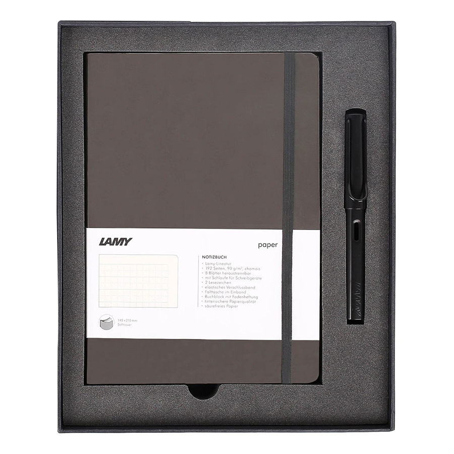 Gift Set Lamy Notebook A5 Softcover Umbra + Lamy Al-Star Black - GSNAl0018