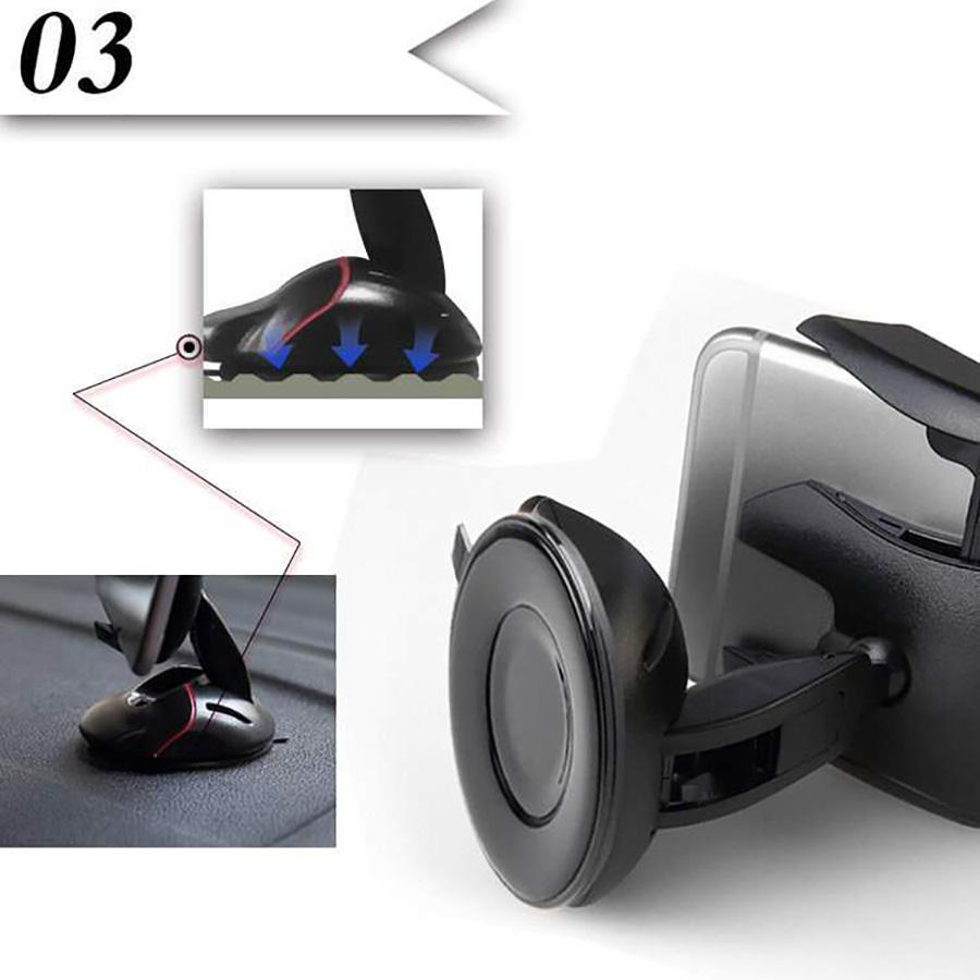 Kẹp điện thoại chuột xoay 360 độ
