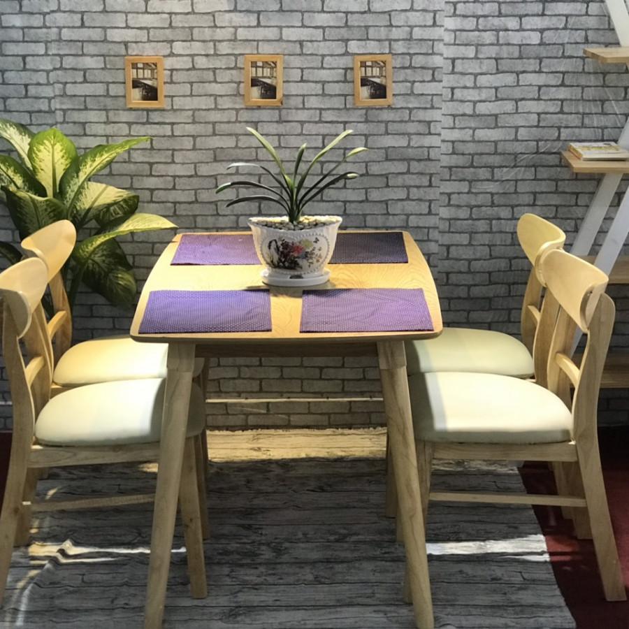 Bộ bàn mango 4 ghế màu tự nhiên