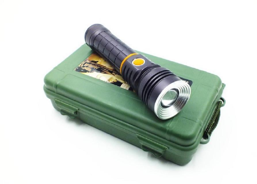 Đèn pin sạc cầm tay chống nước cao cấp TERINO T703
