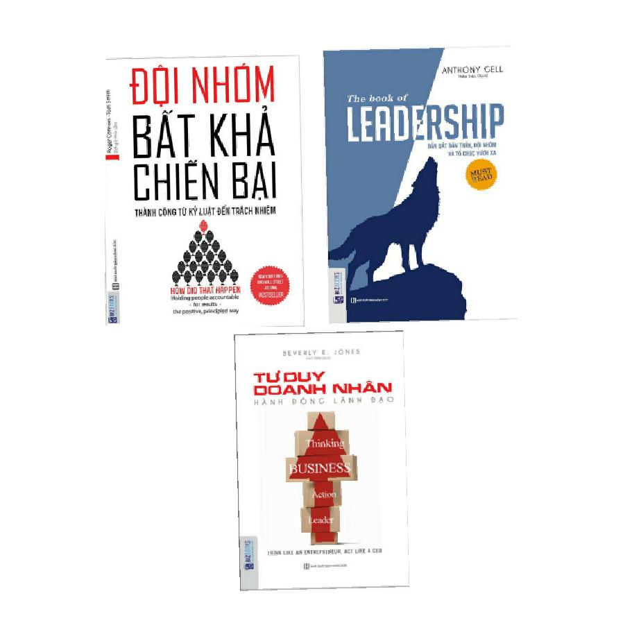 Combo 3 cuốn Tư duy doanh nhân+ Leadship dẵn dắt bản thân và đội nhóm vươn xa+ Đội nhóm bất khả chiến bại( tặng móc khoá iring )