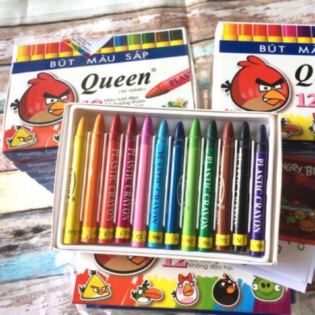Bút màu sáp 12 màu Queen