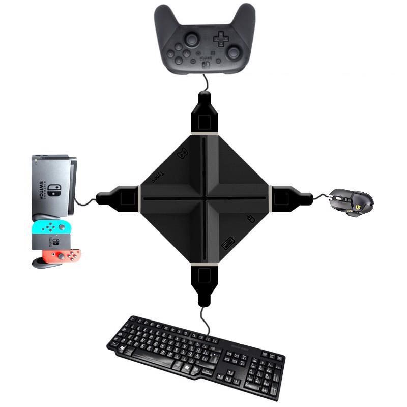 Bộ chuyển đổi chơi game bằng chuột, bàn phím cho máy PS4,Xbox One, Nintendo Switch Aturos MK-1 (Tặng kèm bàn phím G92, chuột 4D) - Hàng chính hãng