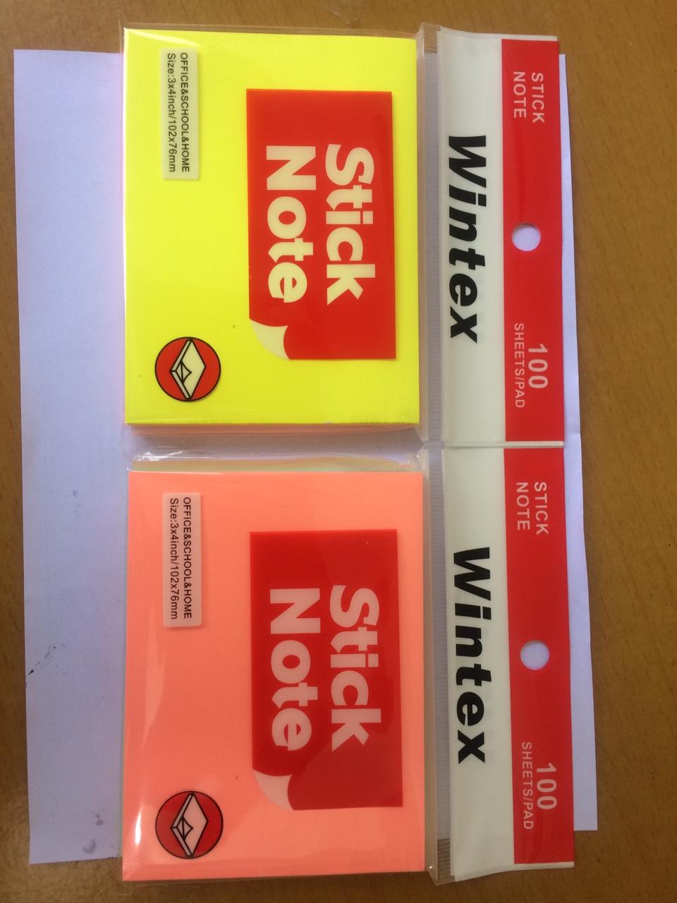 Combo 5 Tập Giấy Note Dạ Quang 5 màu Cỡ 3x4