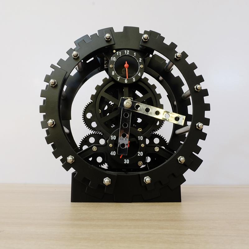 Đồng hồ la răng đặt bàn màu đen