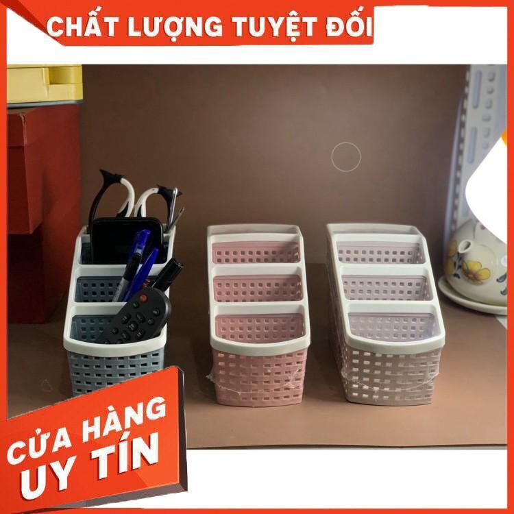 Khay nhựa tiện ích 4 ngăn, để bàn, đựng đồ, khay nhựa 4 ngăn, đựng bút, đồ dùng đa năng
