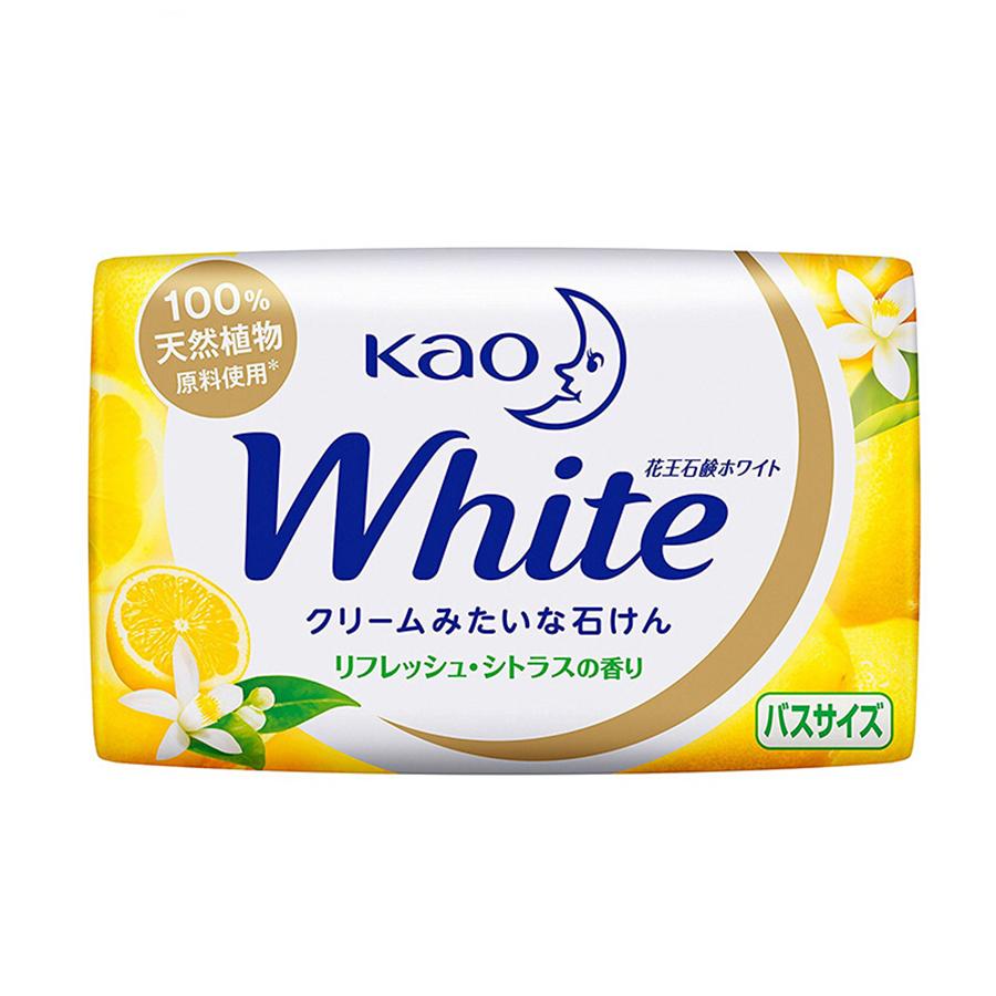 Combo Thùng Rác Mini Kẹp Túi Rác Gọn Gàng + Xà Bông Kao White Hương Chanh - Nội Địa Nhật Bản
