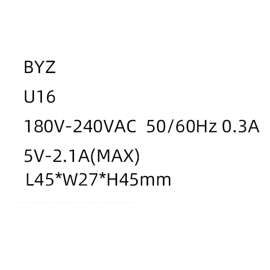 Củ sạc nhanh BYZ U16 (2.1A) - Hàng nhập khẩu
