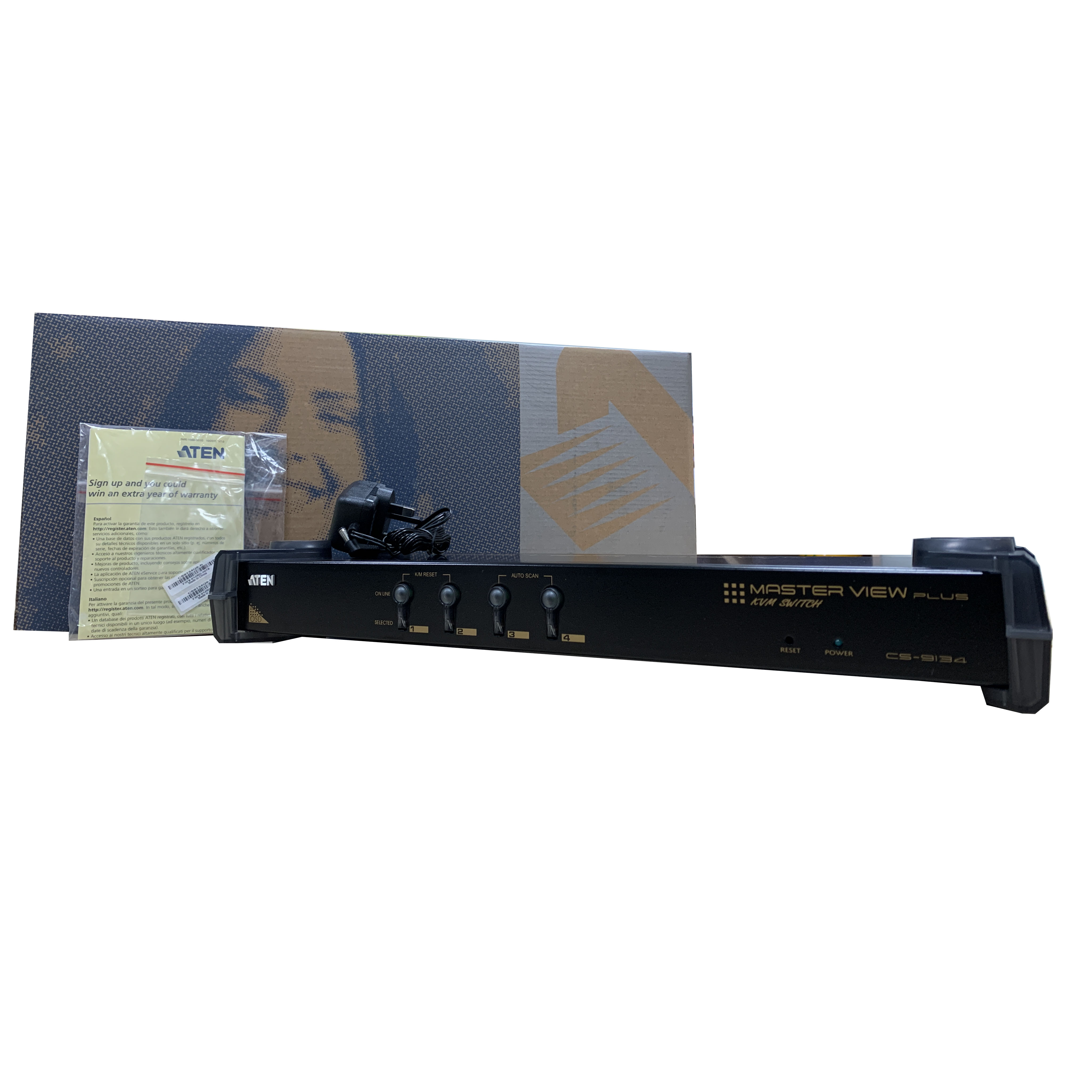 Bộ chuyển đổi KVM Switch PS/2 4 port - Aten CS9134 - Hàng chính hãng