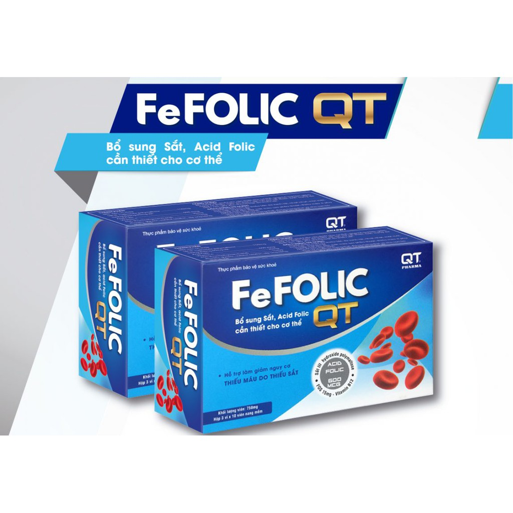 Thực phẩm bảo vệ sức khỏe Fe Folic QT