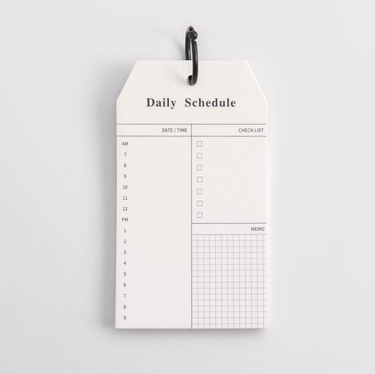 Combo Tập Giấy Note Ghi Chú Danh Sách Cần Làm To Do List + Daily Schedule Kèm Khoen ( Tặng kèm Giấy Note Bánh Bao)