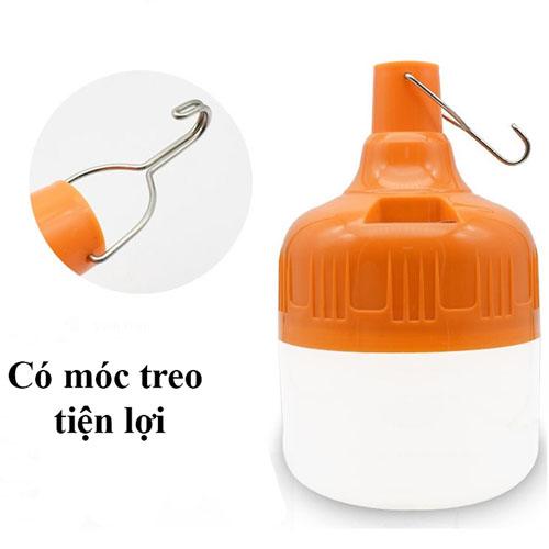 Bóng đèn tích điện loại 100W có móc treo không cần dây điện - Đèn sạc không dây