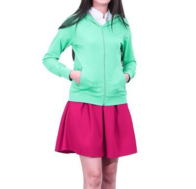 áo khoác nữ chống nắng, vải thun cotton mặt trước