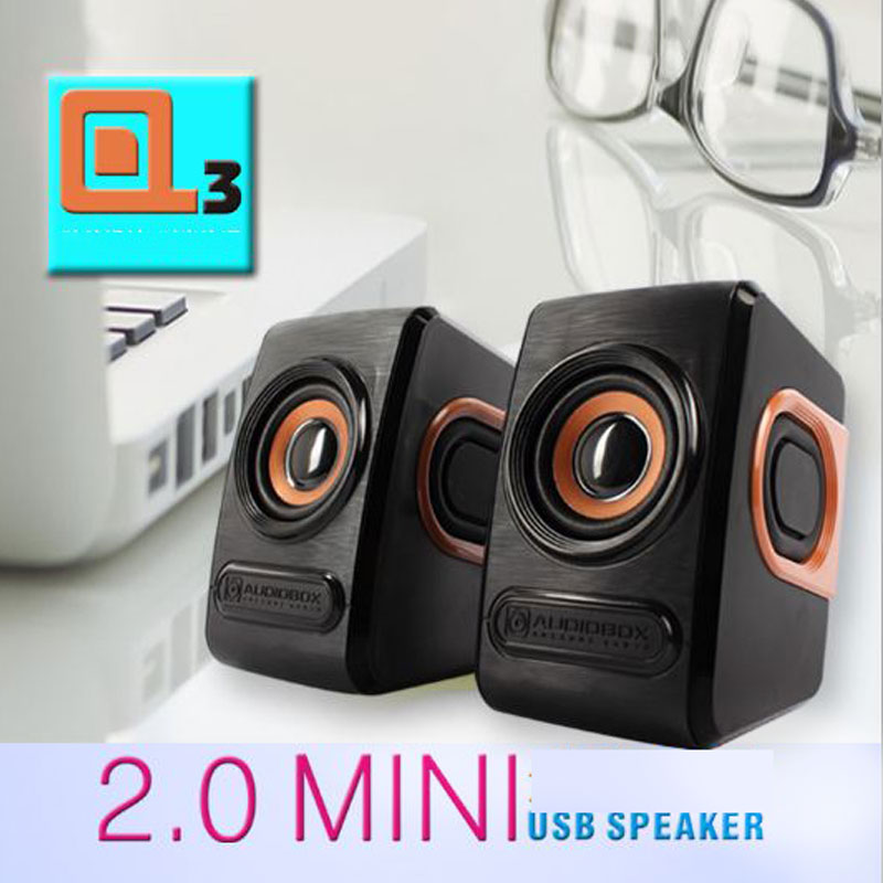 Combo Bộ Loa Máy Tính Stereo Mini Để Bàn Cao Cấp Âm Thanh Siêu Trầm Hỗ Trợ USB 2.0 + Tặng Tai Nghe Bluetooth Nhét Tai Kèm Mic Đàm Thoại M165 (màu ngẫu nhiên)