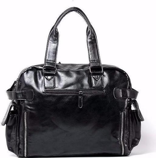 Túi xách da nam màu đen