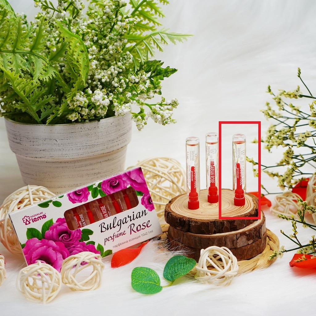 Nước hoa mini tinh dầu hoa hồng Bulgaria thương hiệu Lema 2,1ml mùi hương hồng tươi nhẹ nhàng quyến rũ