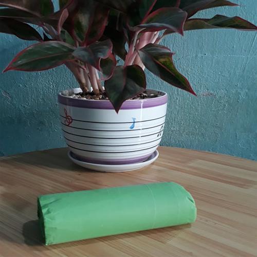 1kg - Túi đựng rác gia đình , Bao đựng rác văn phòng size trung 55x65 màu xanh lá