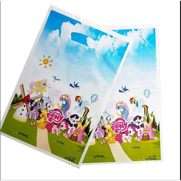 10 túi quà Party gift bag 17 x 25 cm chủ đề ngựa Pony