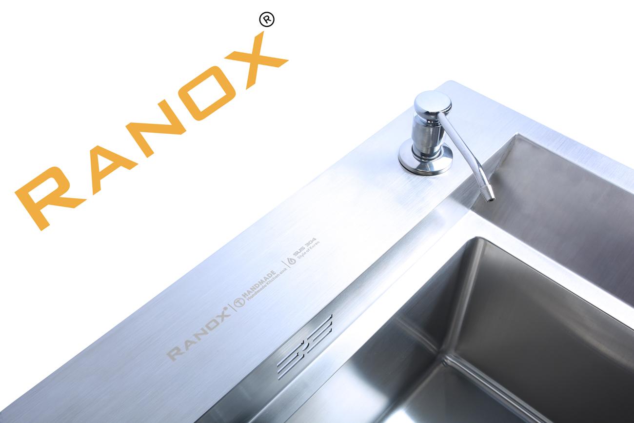 Combo chậu rửa bát vòi rửa bát Hàn Quốc cổ điển RANOX RN4690