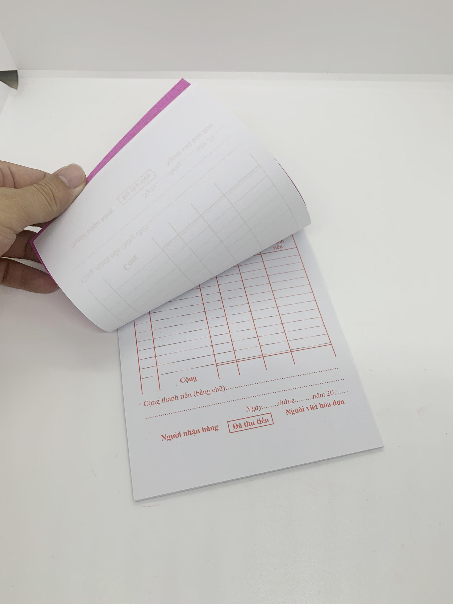 [COMBO 3 Cuốn] Hoá đơn bán lẻ 1 liên - Khổ giấy A5 tiện dụng cho quán ăn, tạp hoá