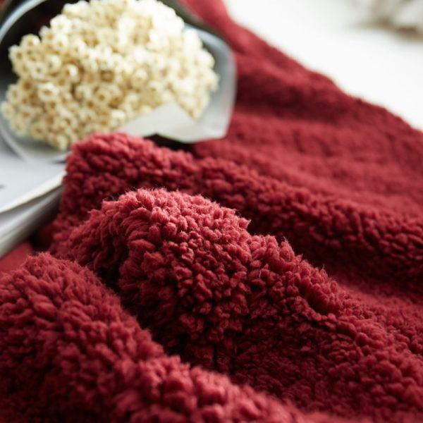 Chăn Lông Cừu Tuyết 2 mặt siêu mềm mịn 2m X 2m3 Hàng Xuất Khẩu xuất Châu Âu