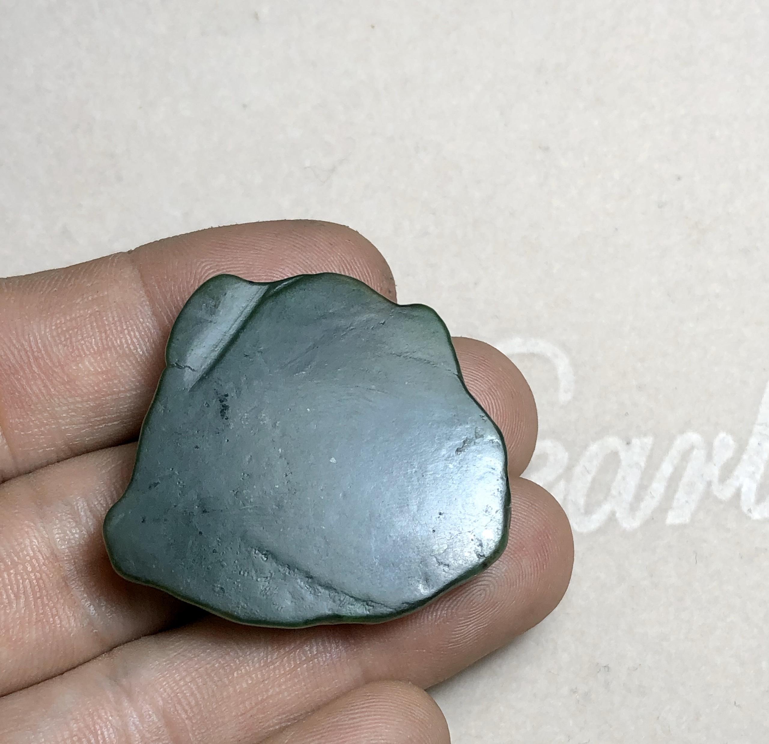 Mặt Di Lặc Ngọc Bích (Nephrite) tự nhiên
