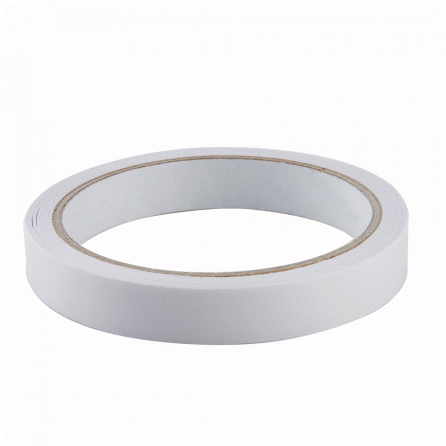 White 15mm Double Sided Tape Package Double-faced Adhesive Strong Adhesion Sticky Powerful Stationery for Office Home 15mm 1pc