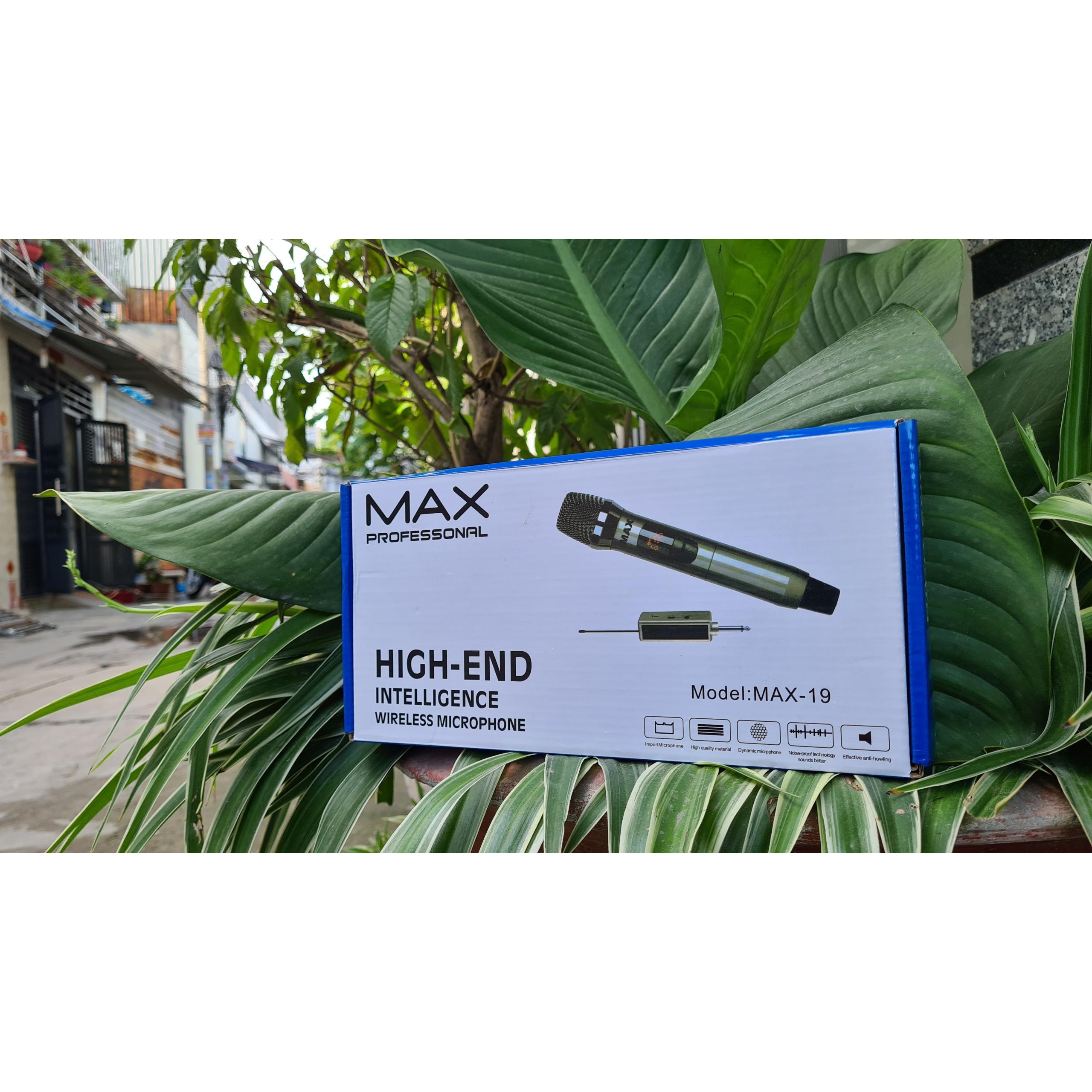 Micro không dây đa năng Max 39, Max 19 - Màn hình LCD hiển thị tần số - phù hợp cho mọi thiết bị - Hàng chính hãng