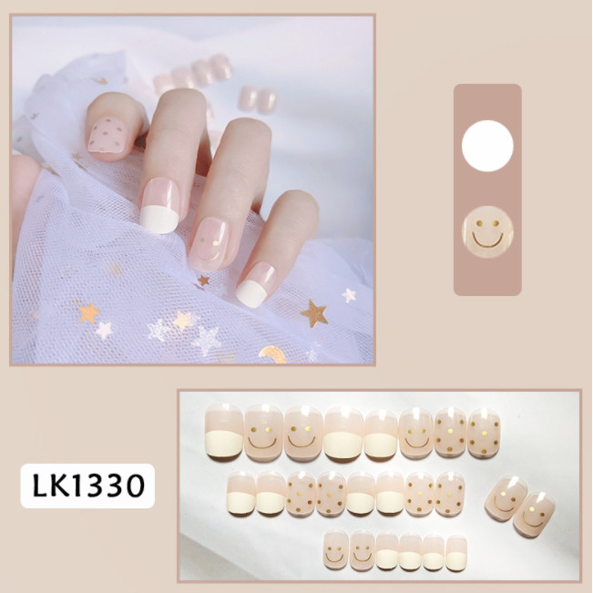 Bộ 24 móng tay giả nail thơi trang như hình (LK1330)