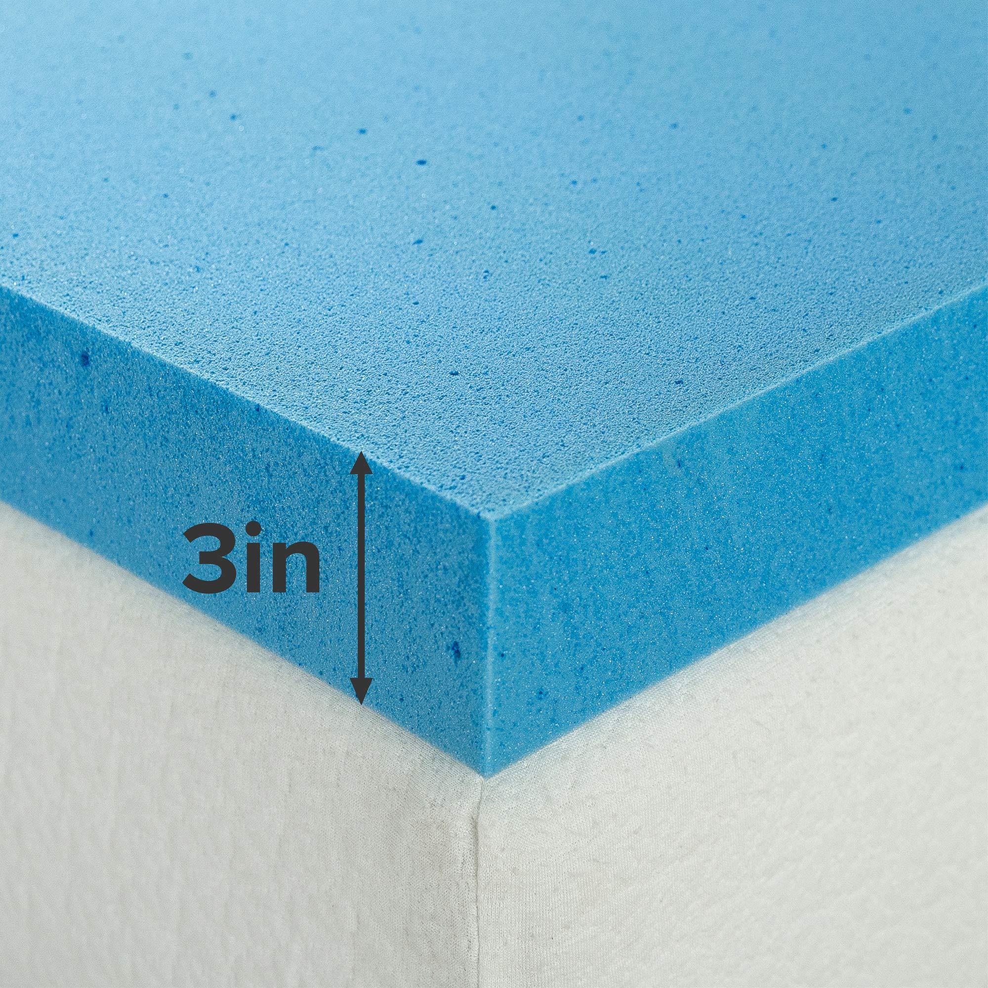 Topper Tấm Tiện Nghi Làm Mềm Nệm Gel Mát Cao Cấp Zinus - Gel Memory Foam Mattress Topper with Cover 180x200*7.5cm