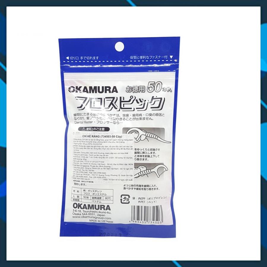 Tăm chỉ kẽ răng Okamura 90 cây/gói ( Nhựa cao cấp an toàn cho sức khỏe)