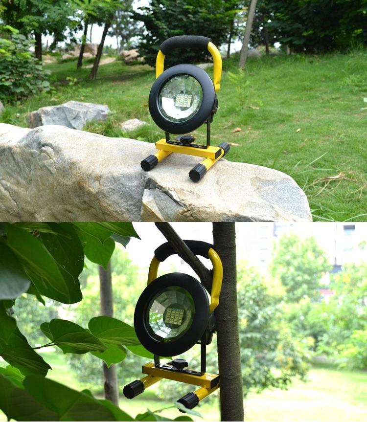 Đèn sạc chiếu sáng gia đình, dã ngoại hình tròn ( Tặng 3 pin cell 2600mAh )
