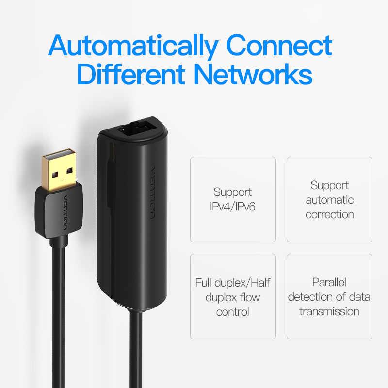 Cáp chuyển USB 2.0 to RJ45/LAN hàng chính hãng Vention CEGBB