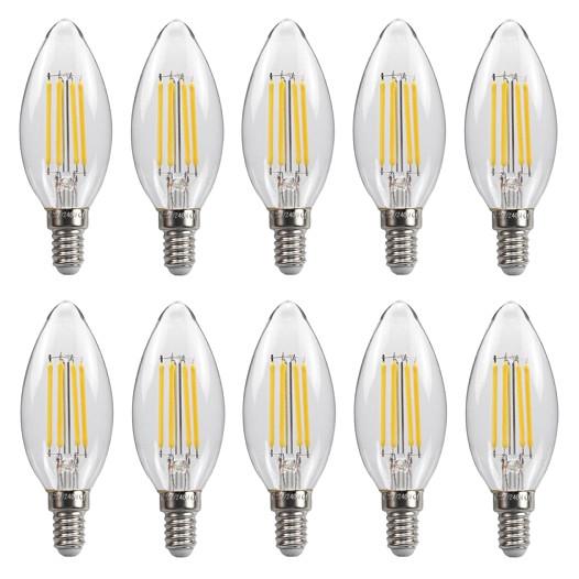 Bộ 10 bóng đèn Led Edison C35 4W hình quả nhót đui E14
