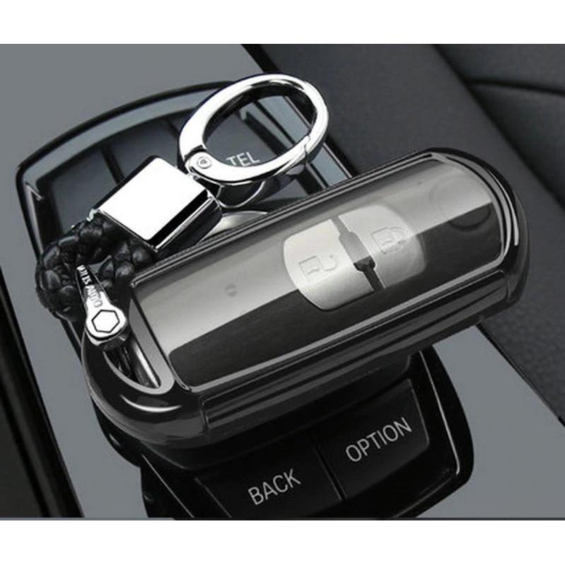 Combo ốp chìa khóa 360 độ cho xe Mazda CX-8, Mazda CX-5, Mazda 6, Mazda 2, Mazda 3... Silicon phủ gương kèm móc đeo INOX