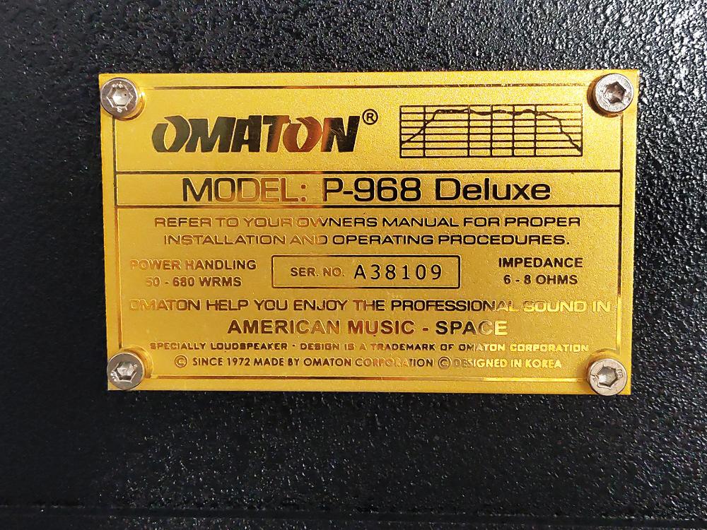 Loa nằm OMATON P-968 Deluxe lưới sắt, Bass 25cm 2 từ, sơn chống trầy - Hàng chính hãng