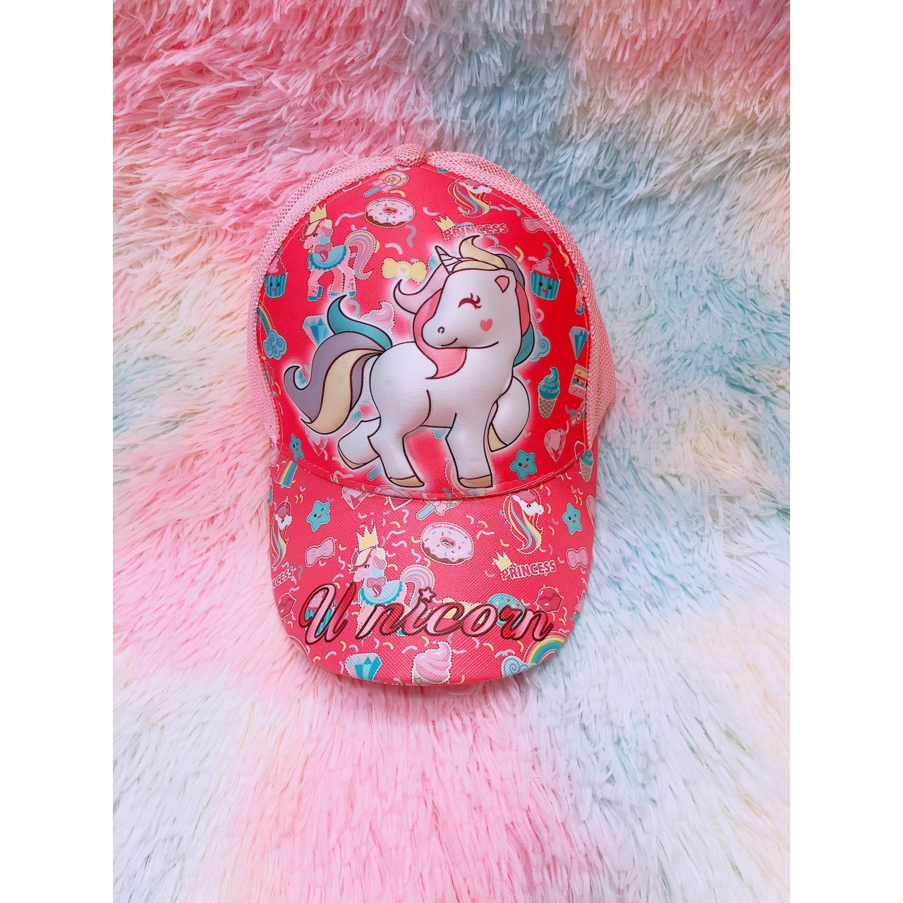 Nón 3D cho bé Unicorn hồng