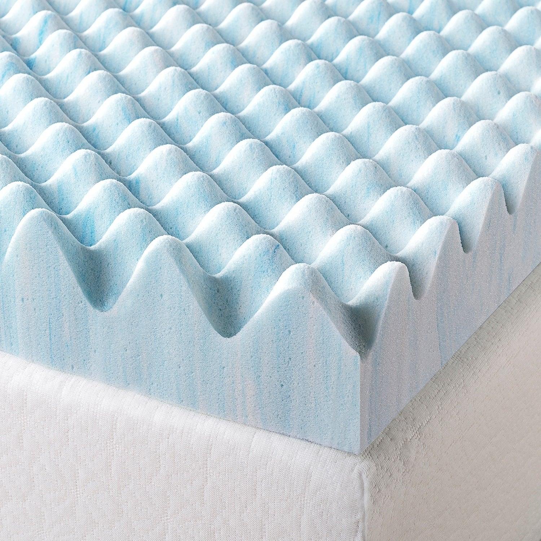 Topper Tấm Tiện Nghi Làm Mềm Nệm 3D Thoáng Mát Cao Cấp Zinus - Swirl Gel Memory Foam Air Flow Topper with Cover 180x200*7.5cm