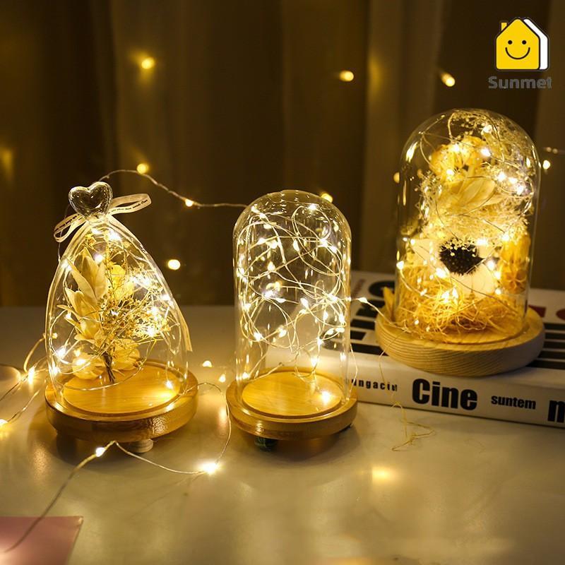 【Tặng Kèm Pin 】 Dây Đèn Led Fairt Light 2M Đom Đóm Dùng Trang Trí Hộp Quà, Bánh Kem, Thiệp Vào Dịp Lễ.