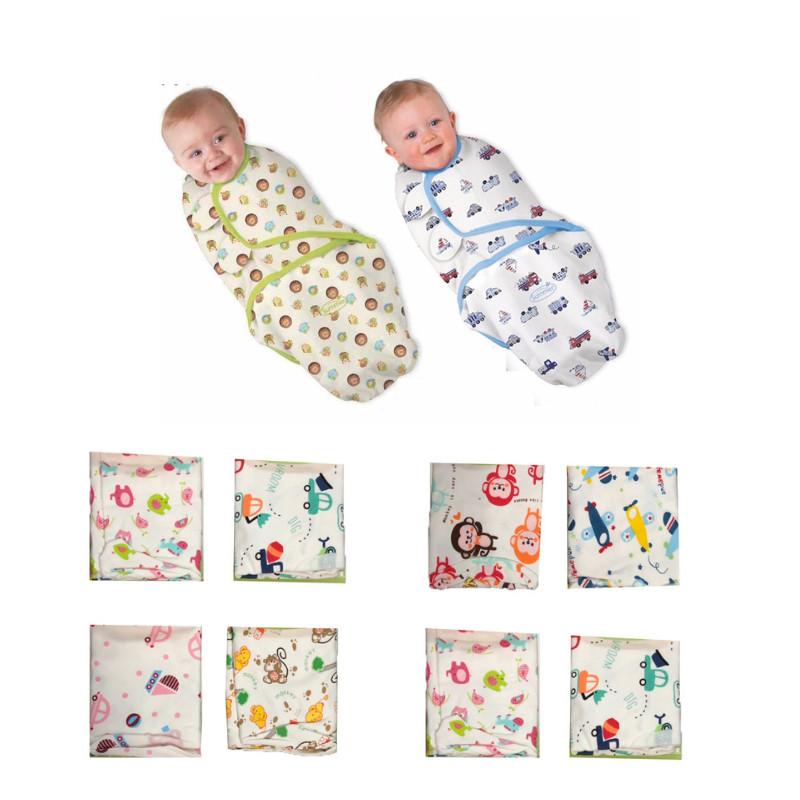 Chăn ủ quấn sơ sinh cotton mềm, mịn, mát cho bé - Màu sắc & họa tiết ngẫu nhiên - Bé gái