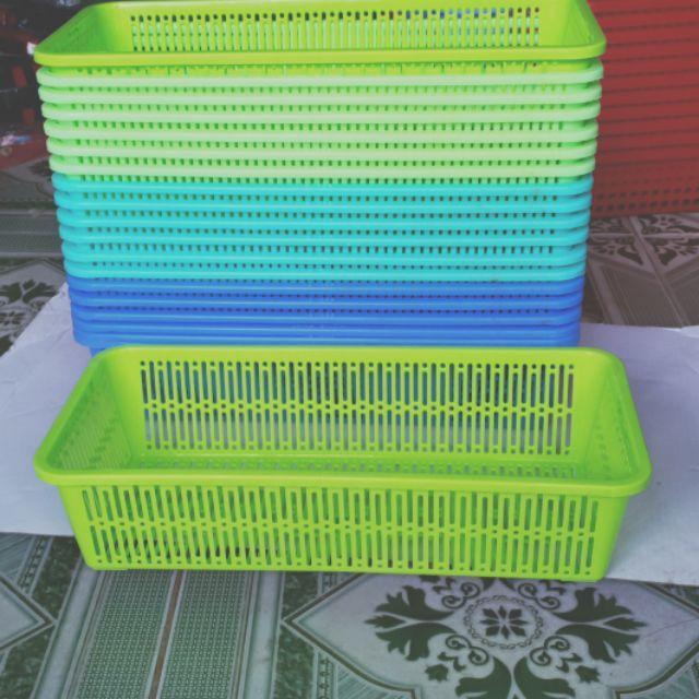 Combo 10 rổ nhựa hình chữ nhật