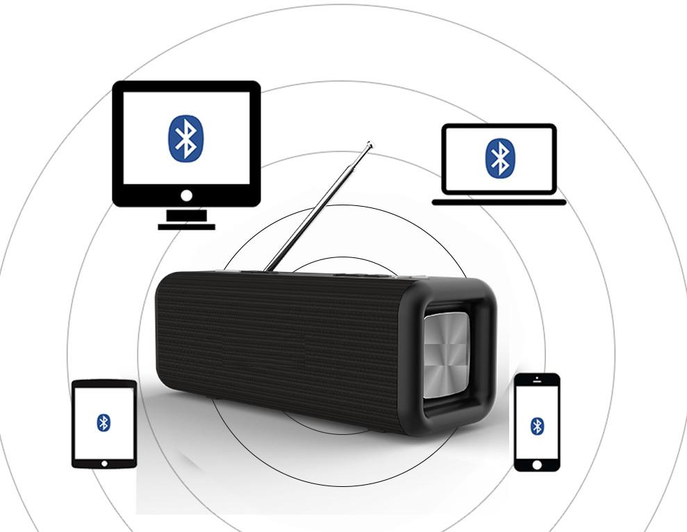 Loa Bluetooth T9 siêu Bass âm thanh Đen PF162