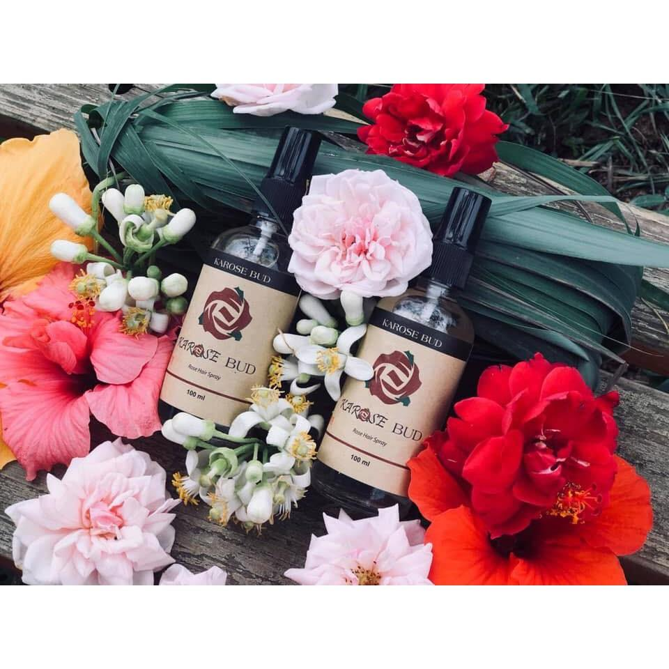Xịt dưỡng tóc hoa hồng Karose Bud - 100ml