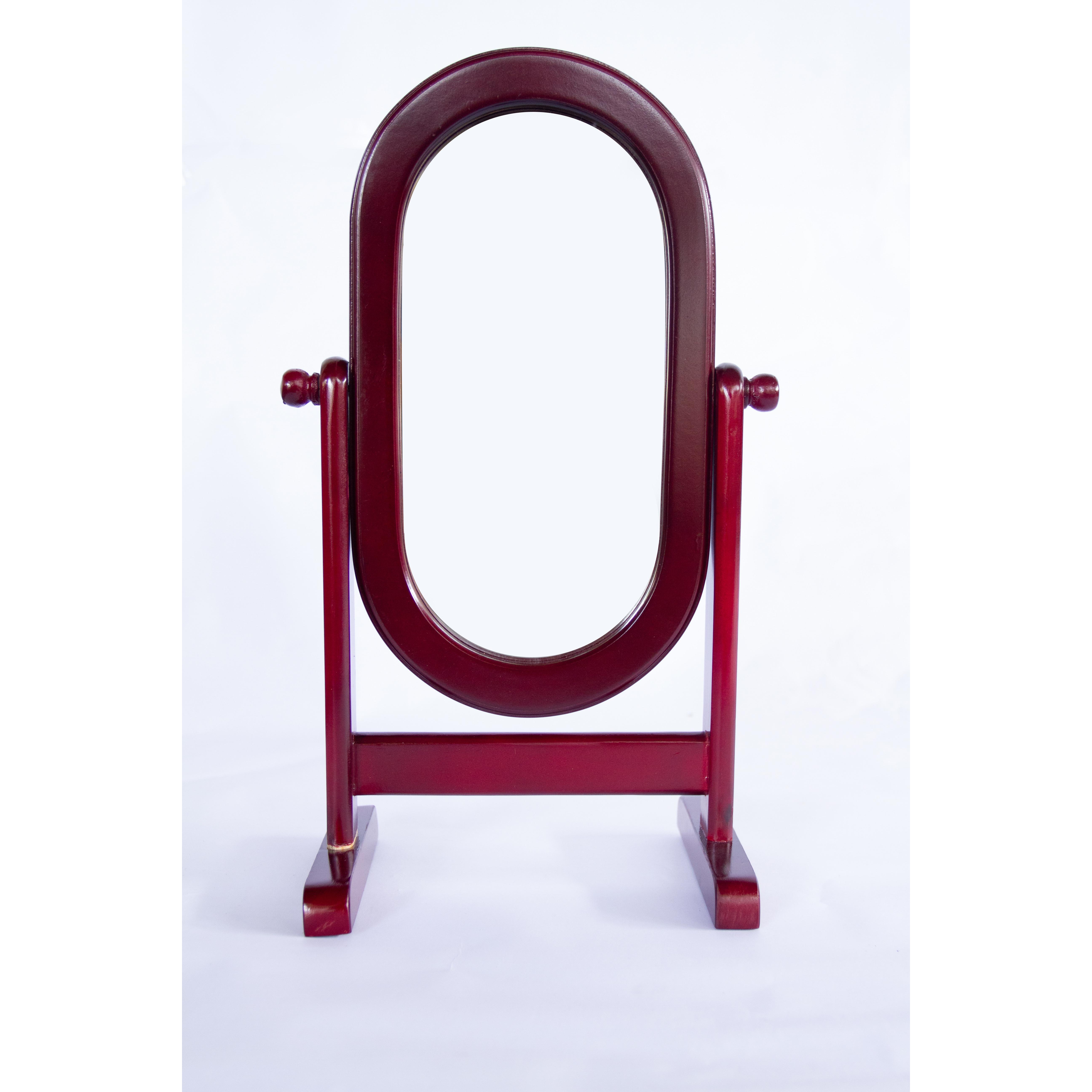 Gương soi gỗ để bàn Bầu tròn