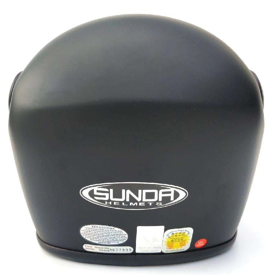 Mũ bảo hiểm fullface hàm SUNDA 555 trơn