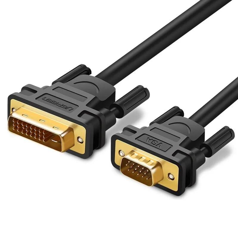 Cáp chuyển đổi DVI 24+1 dương sang VGA dương dài 1.5m màu đen UGREEN 30838MM118 Hàng chính hãng