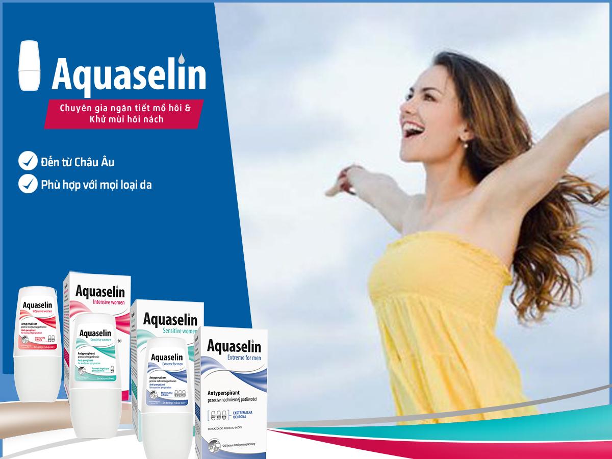 Lăn Nách Dành Cho Nữ Aquaselin Insensitive Women (Tặng Hồng Trà Sữa / Cafe Macca)