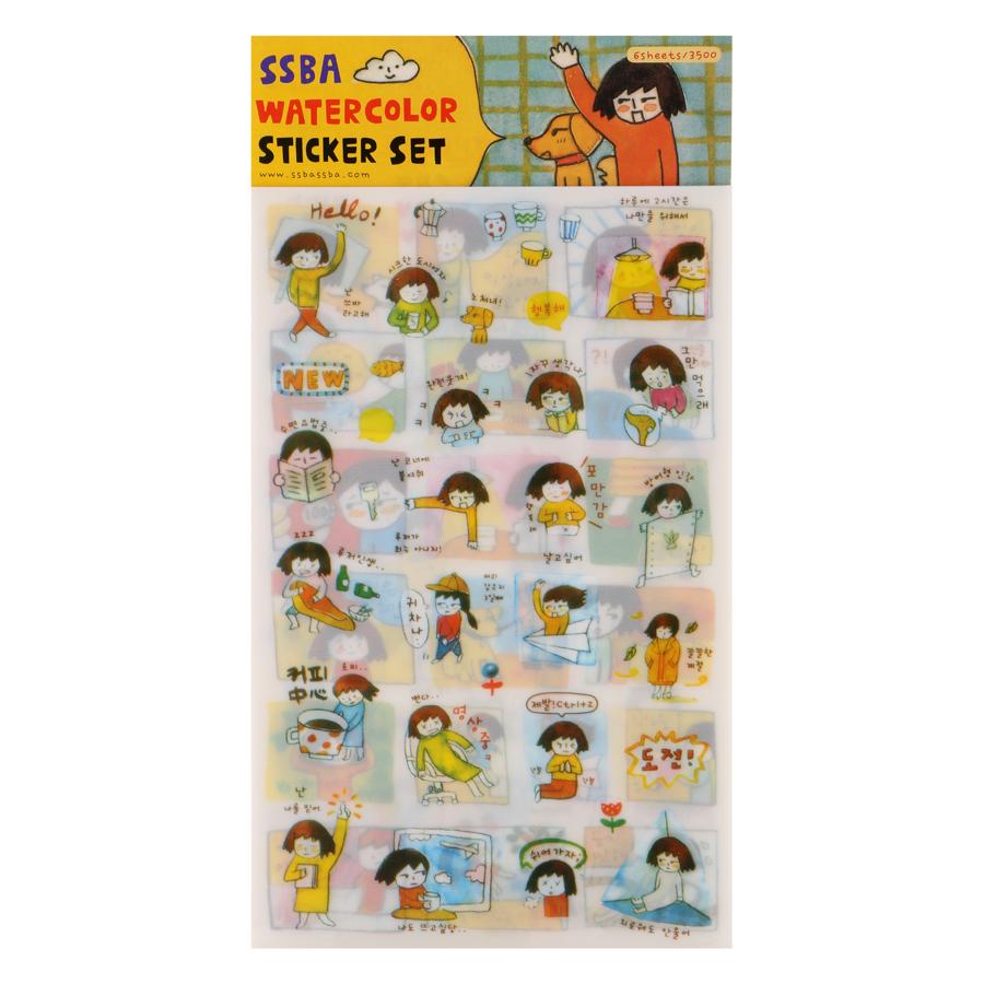 Bộ 6 Tấm Sticker Trang Trí - Nhật Ký Của Tôi