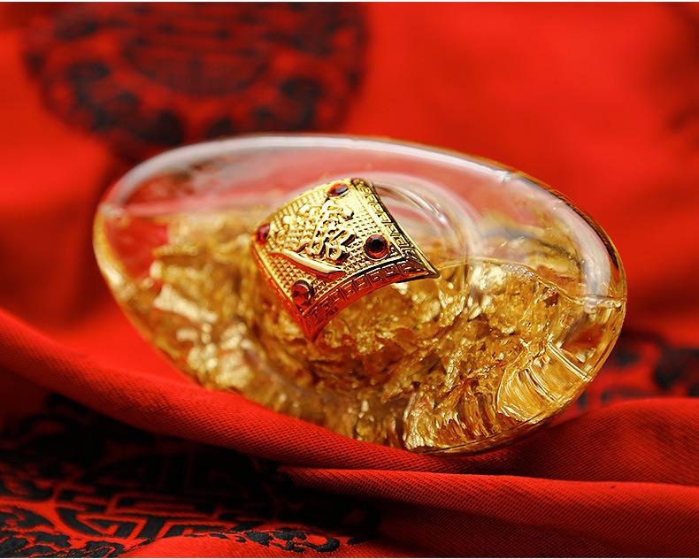 Thỏi Vàng Pha Lê Phong Thủy Đá Thạch Anh Tự Nhiên